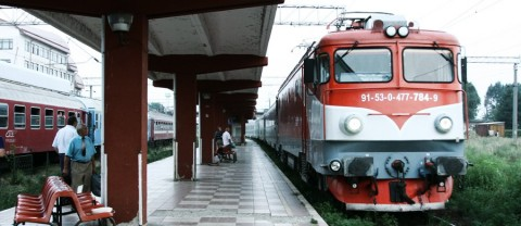tren in Gara Bacau