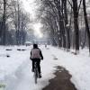 Cu bicicleta pe zapada in Parcul Cancicov (2)