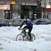 biciclist iarna bacau