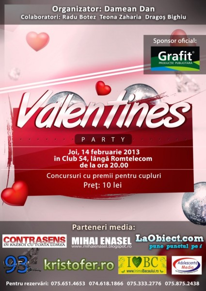 afis petrecere valentines day