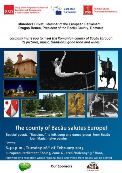 Județul Bacău salută Europa direct de la Parlamentul European