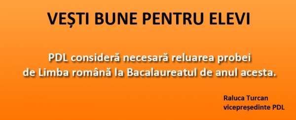 PDL RELUAREA EXAMENULUI DE BACALAUREAT