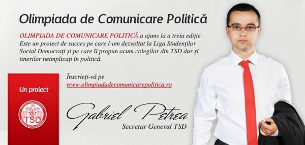 gabriel petrea olimpiada de comunicare politica