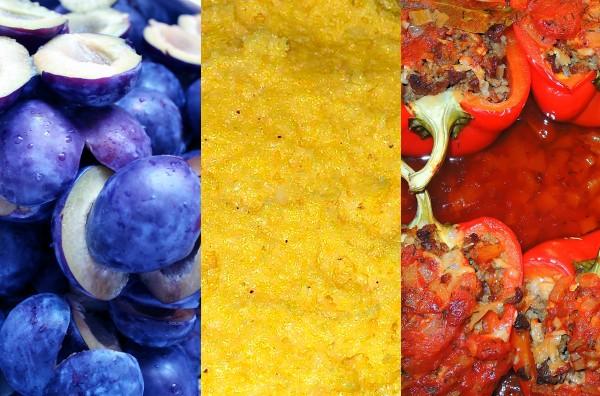 tricolor romanesc facut din mancaruri traditionale
