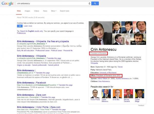 crin antonescu presedintele romaniei wikipedia