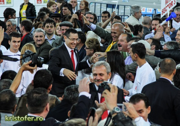 victor ponta miting usl arena nationala