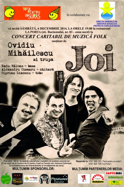 afis concert caritabil folk bacau 2014