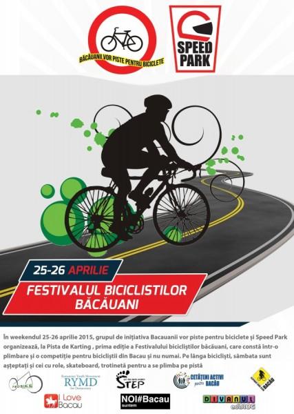 afis Festivalul biciclistilor bacauani