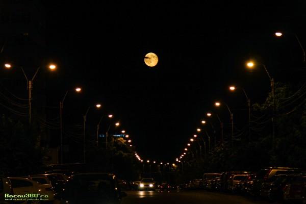 bacau energiei strada noaptea luna
