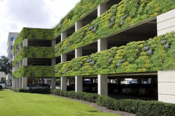 parcare supraetajata verde