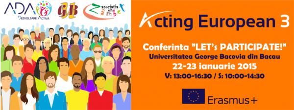 conferinta let s participate bacau