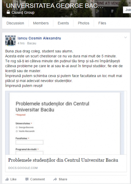 csl bacau propaganda politica universitate
