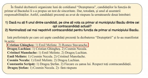raspunsuri candidat dezbatere electorala bacau