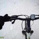 Cu bicicleta pe zapada in Parcul Cancicov (3)