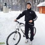Cu bicicleta pe zapada in Parcul Cancicov (4)
