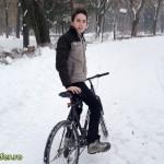 Cu bicicleta pe zapada in Parcul Cancicov (5)