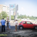 accident policlinica veche bacau ford ka bmw (2)