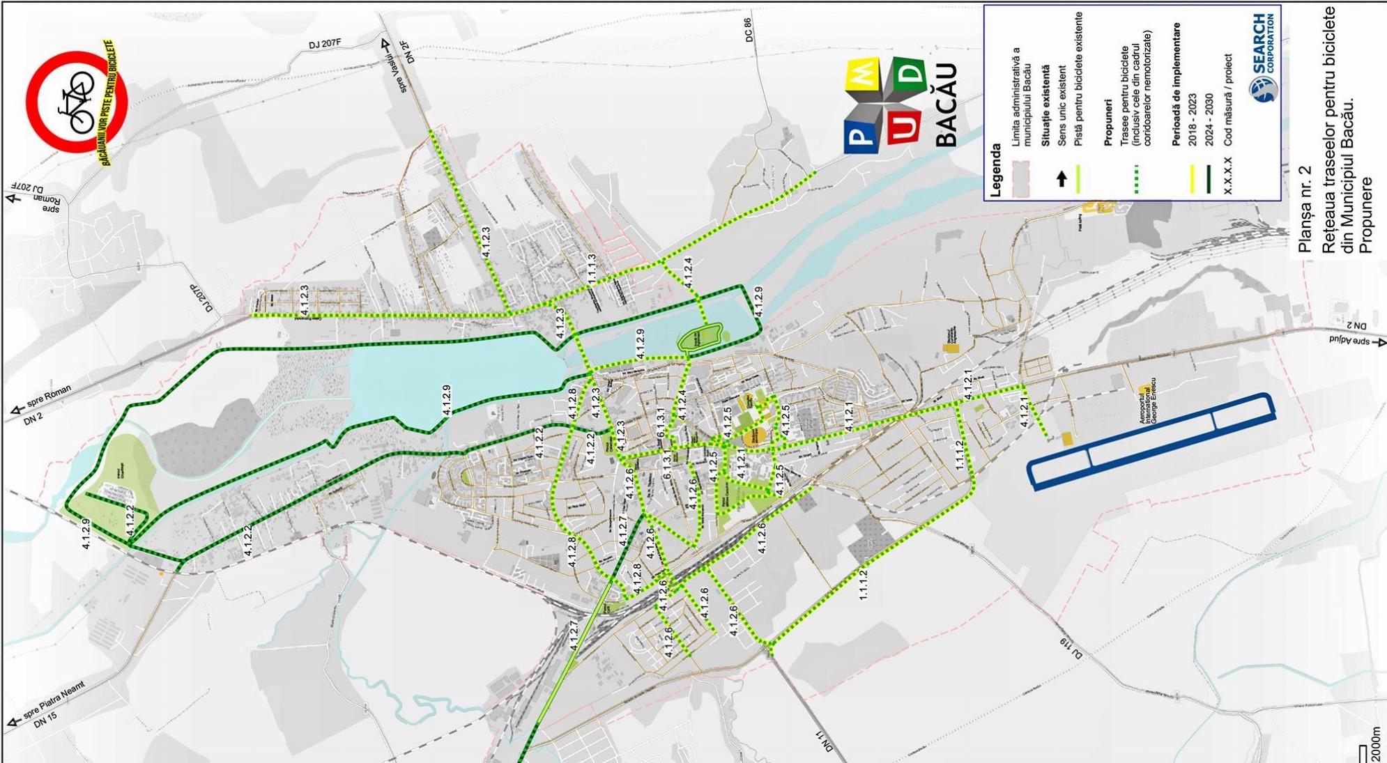 Viitoarea Rețea De Piste Pentru Biciclete Din Bacău Hartă